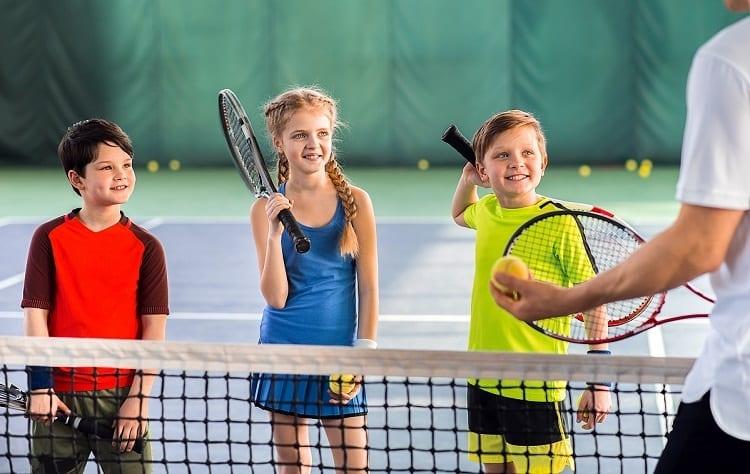 Group Of Kids In Tennis