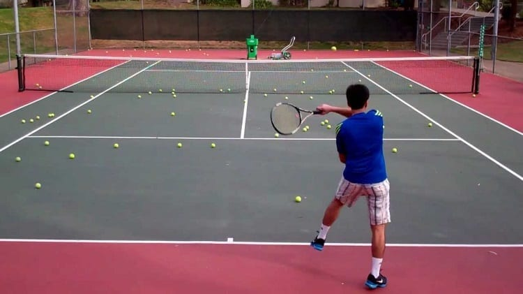 Tennis Ball Machine Training