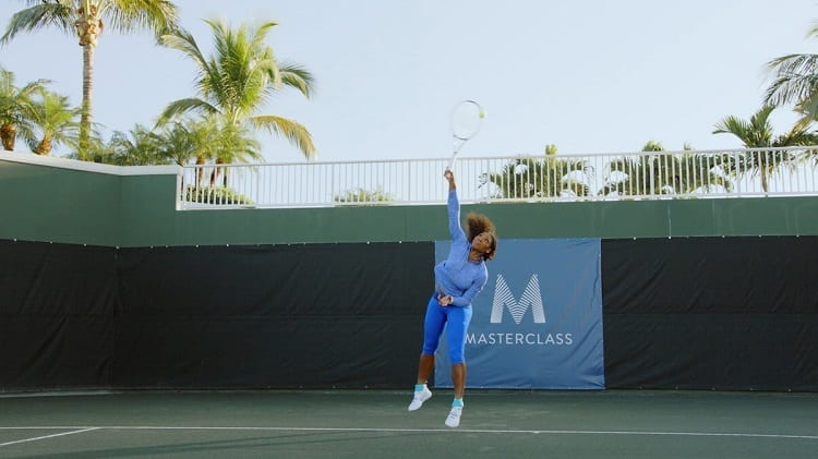 Tennis Player Serving Head Up