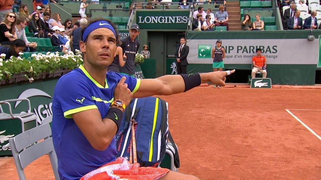 Nadal Makes Umpire Wait Ritual