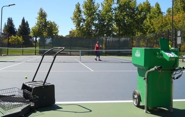 Tennis Ball Machine Drill