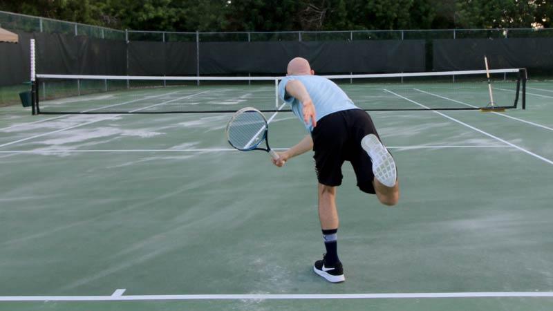 No Kick Serves on a wet tennis court
