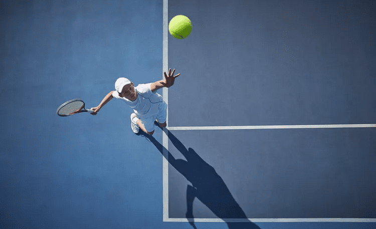 Tennis Serve from Above