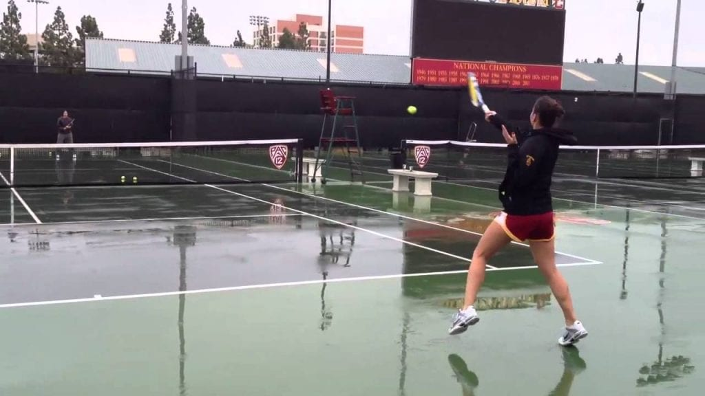 Playing Tennis in the rain