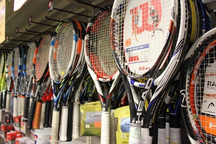 Tennis Rackets On The Wall