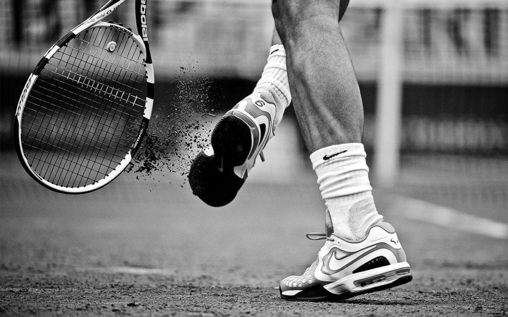 Clay court tennis shoes