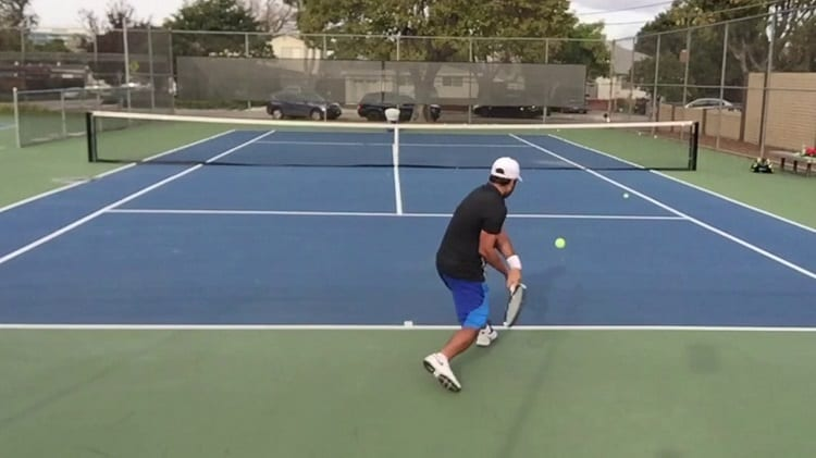 Training With Tennis Ball Machine
