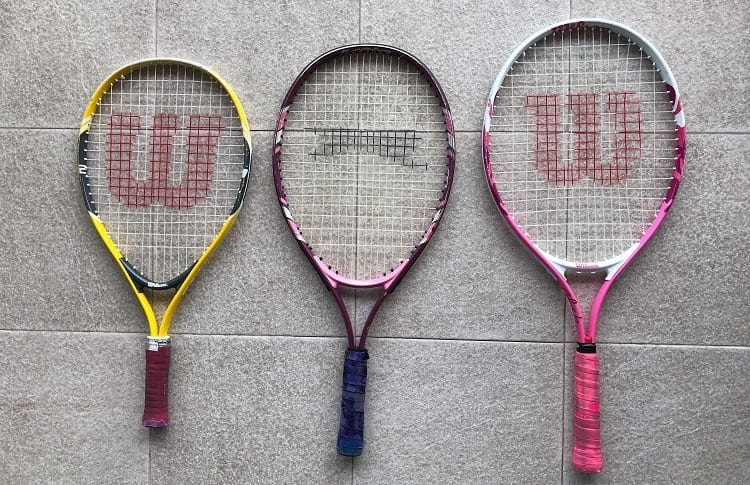 Three Junior Tennis Rackets