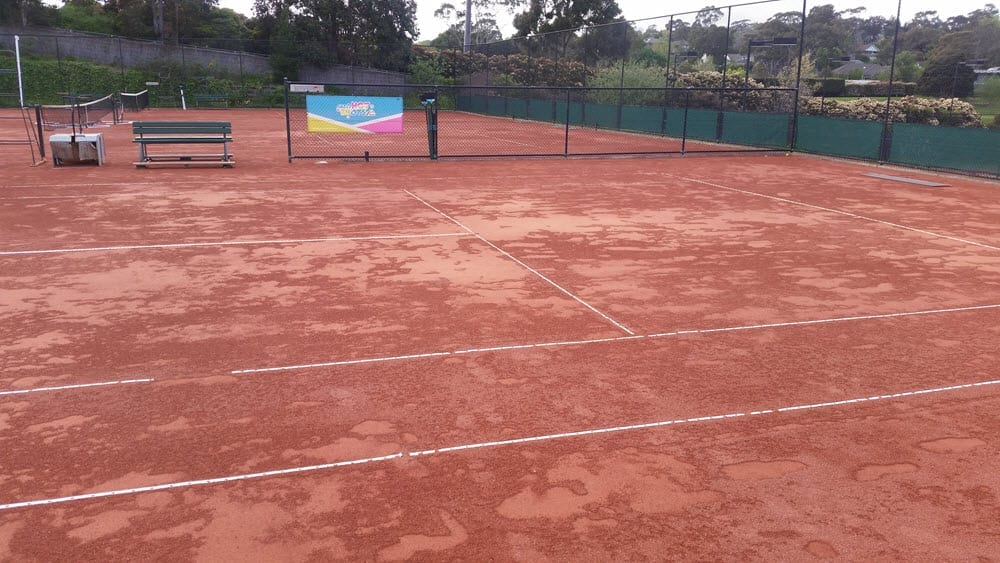 Watered Clay Court