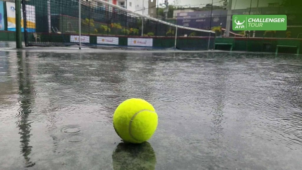 Rained Out Tennis Court