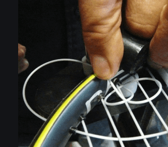 racquet stringing tie off mains