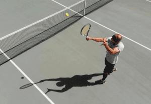 tennis shot backhand volley