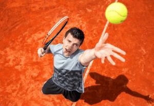 tennis shot serve toss