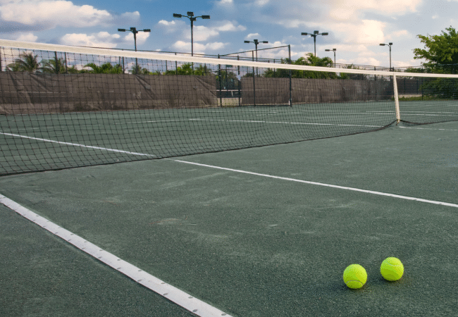 tennis court lines