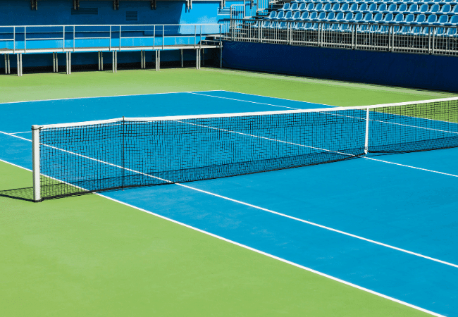 tennis court surface - hard