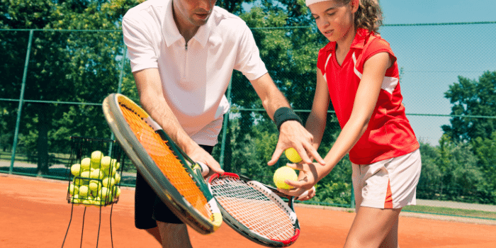 private tennis lessons - one on one attention