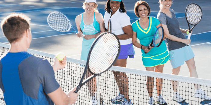 tennis clinics - social interaction