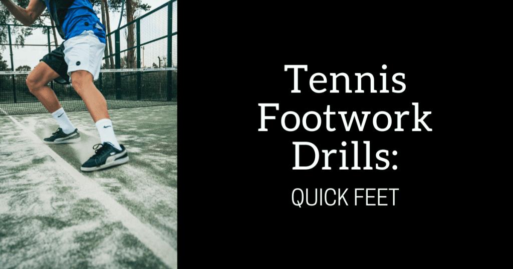 tennis footwork drills along baseline